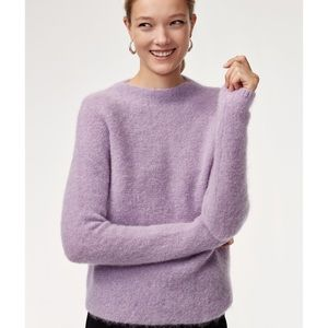 Babaton Chalmers Pastel Lilac Mohair Blend Sweater